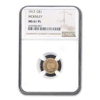 1917 Gold $1.00 McKinley Memorial MS-61 NGC (PL)