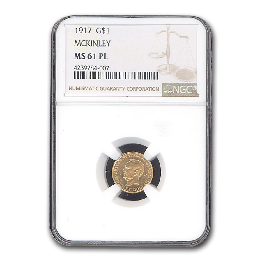 1917 Gold $1.00 McKinley Memorial MS-61 NGC (PL)