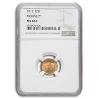 1917 Gold $1.00 Mckinley Memorial MS-66+ NGC