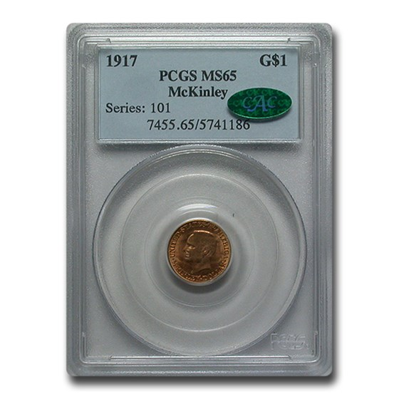 1917 Gold $1.00 McKinley MS-65 PCGS CAC