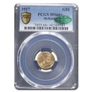 1917 Gold $1.00 McKinley MS-66+ PCGS CAC