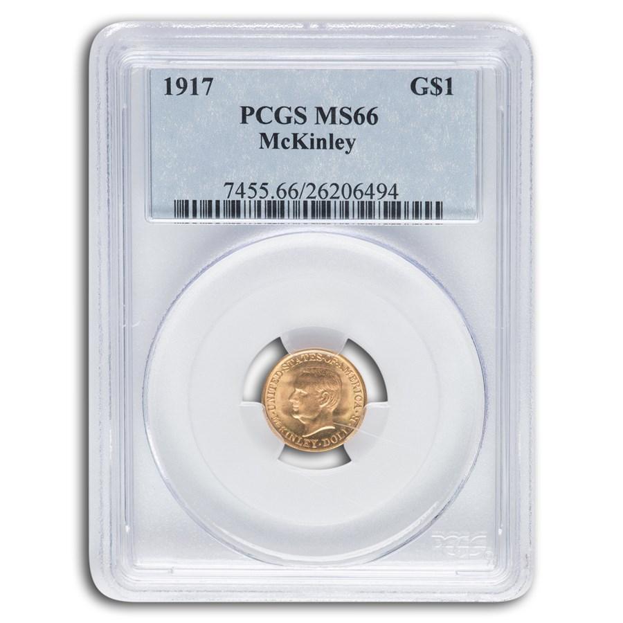 1917 Gold $1.00 McKinley MS-66 PCGS