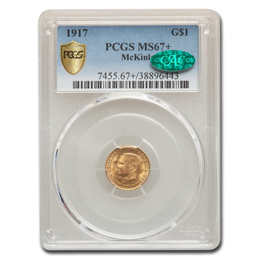 1917 Gold $1.00 McKinley MS-67+ PCGS CAC