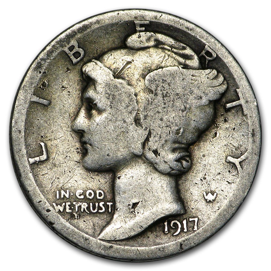1917 Mercury Dime Good/VG