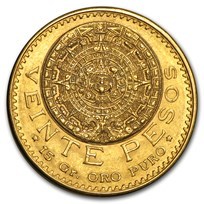 1917 Mexico Gold 20 Pesos BU