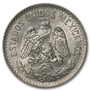 1917 Mexico Silver 50 Centavos BU (Cap and Ray)