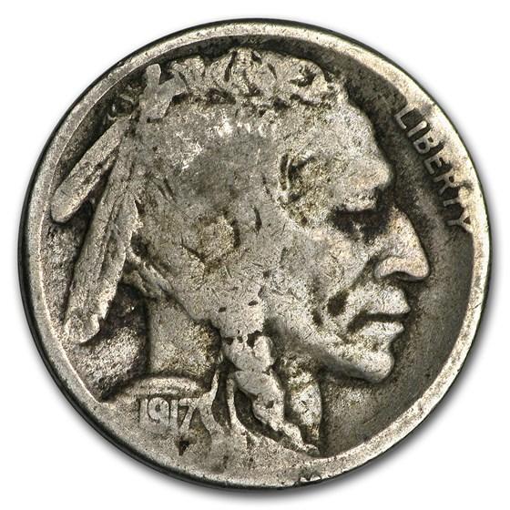 1917-S Buffalo Nickel Good