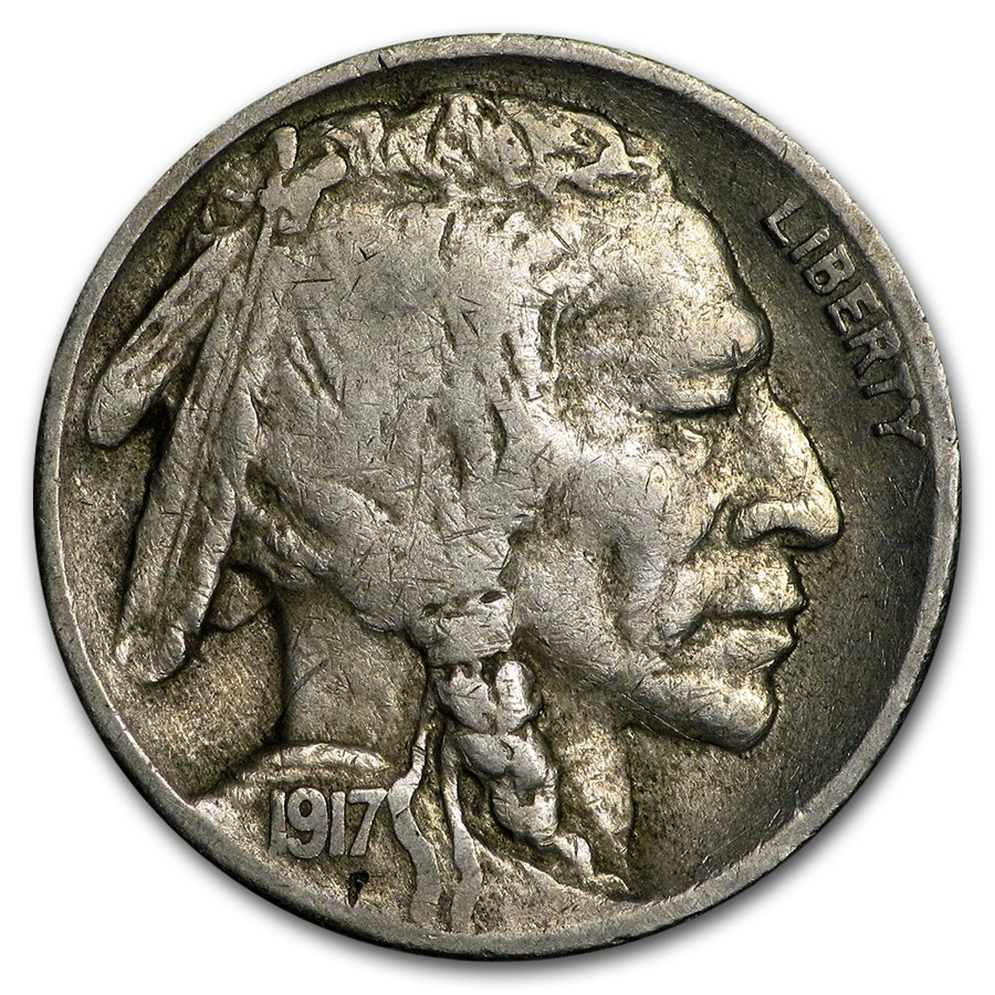 1917-S Buffalo Nickel VF