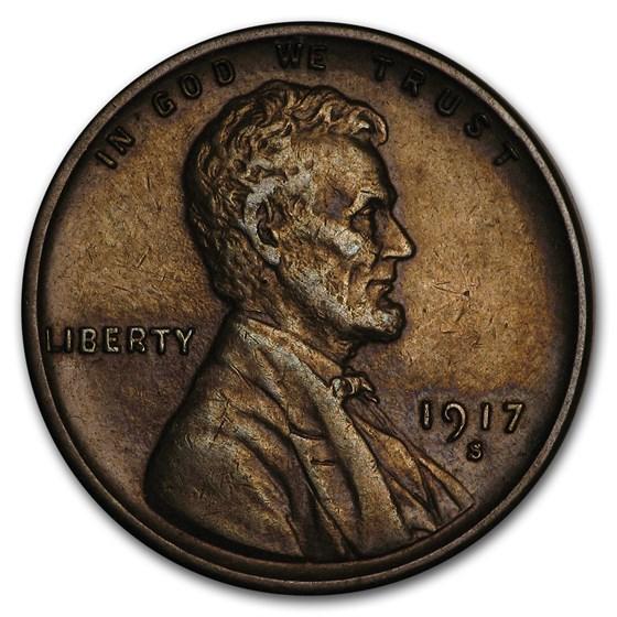 1917-S Lincoln Cent AU