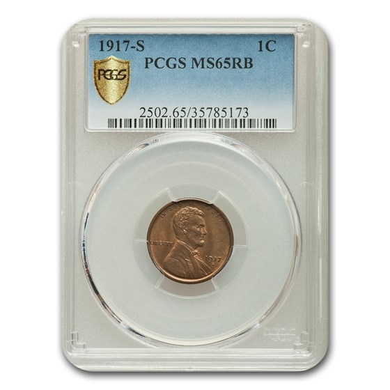 1917-S Lincoln Cent MS-65 PCGS (Red/Brown)
