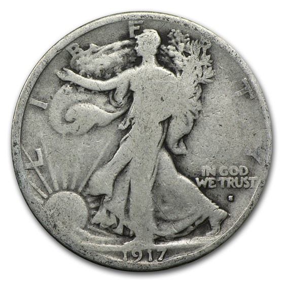1917-S Obverse Walking Liberty Half Dollar Good