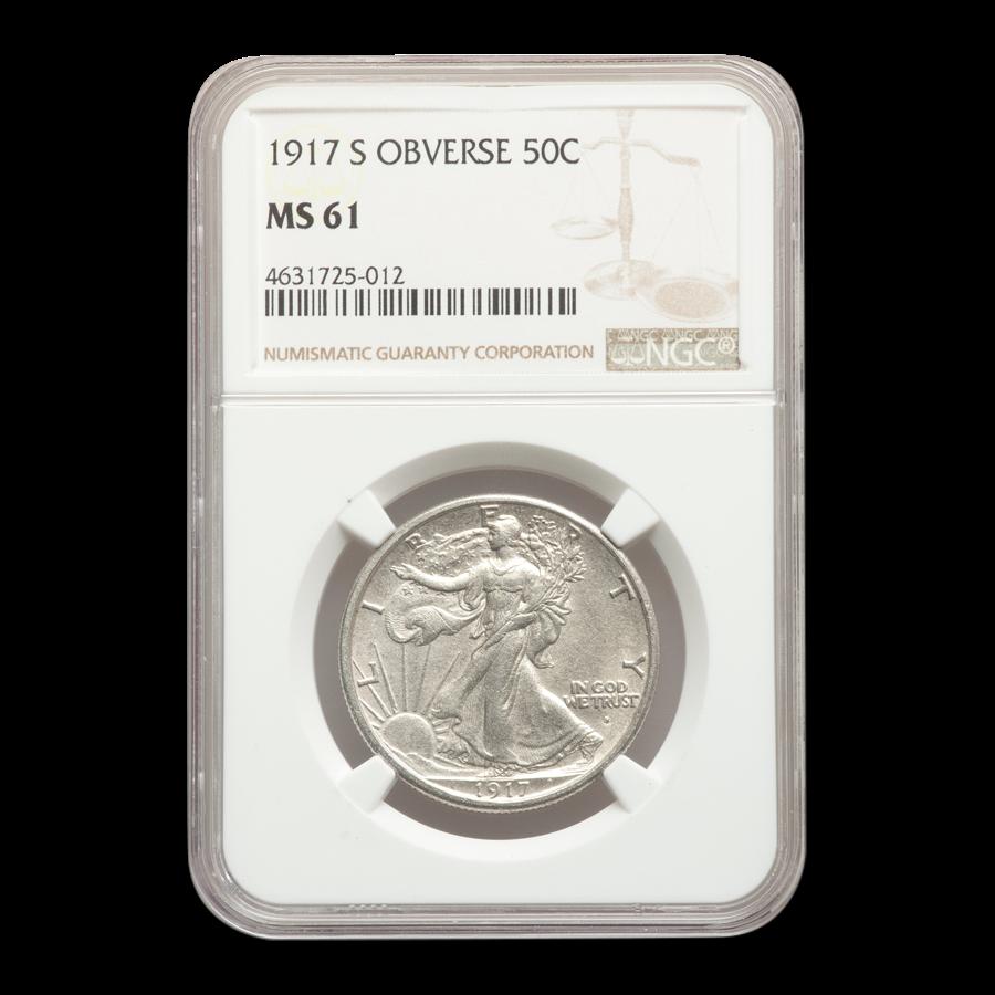 1917-S Obverse Walking Liberty Half Dollar MS-61 NGC