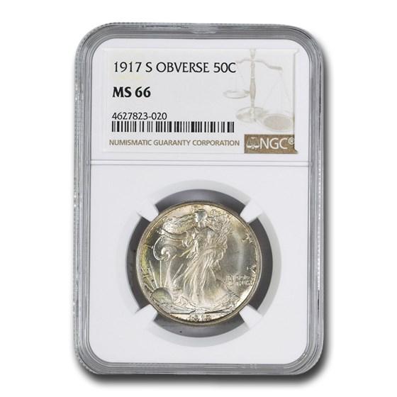 1917-S Obverse Walking Liberty Half Dollar MS-66 NGC