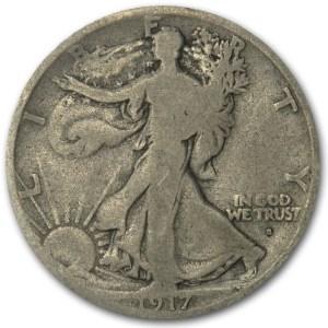 1917-S Obverse Walking Liberty Half Dollar VG