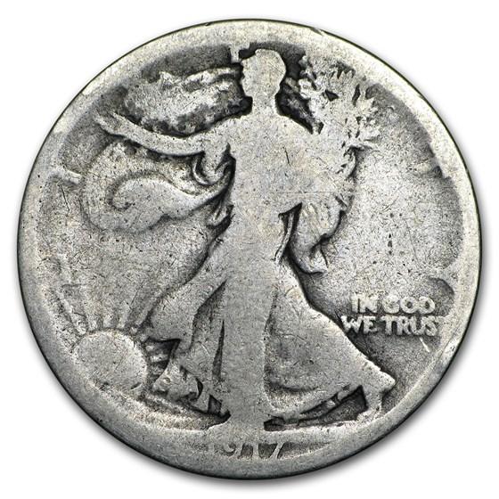 1917-S Rev Walking Liberty Half Dollar AG