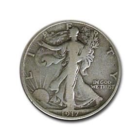 1917-S Rev Walking Liberty Half Dollar Fine