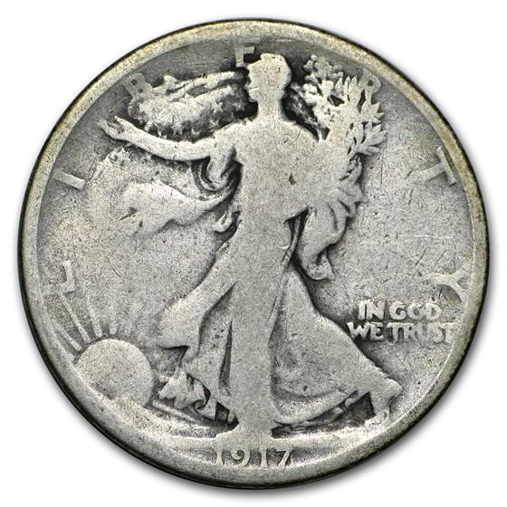 1917-S Rev Walking Liberty Half Dollar Good