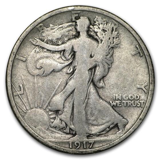 1917-S Rev Walking Liberty Half Dollar VG