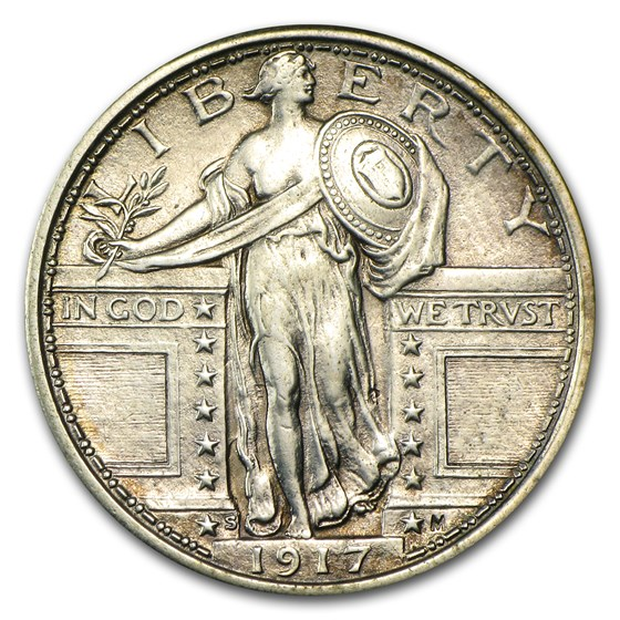 1917-S Standing Liberty Quarter Type-I AU (Cleaned)