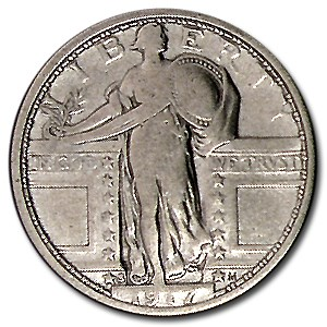 1917-S Standing Liberty Quarter Type-I Fine (Details)