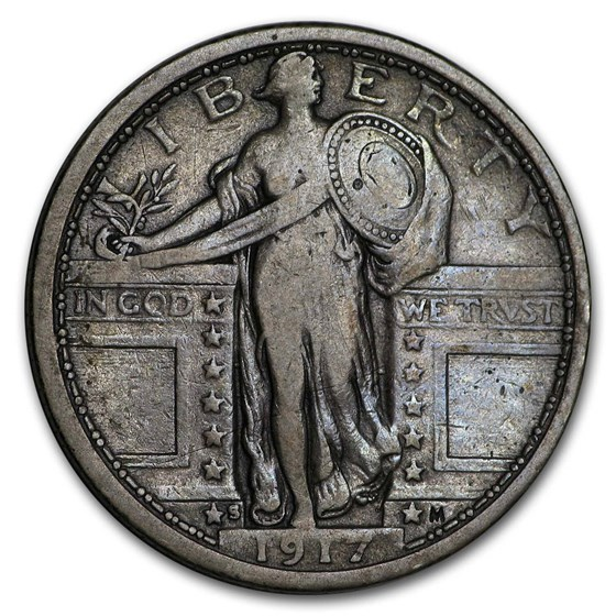 1917-S Standing Liberty Quarter Type-I VF