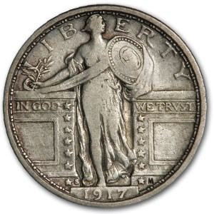 1917-S Standing Liberty Quarter Type-I XF (Details)