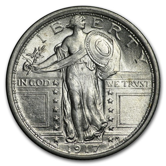 1917 Standing Liberty Quarter Type-I BU