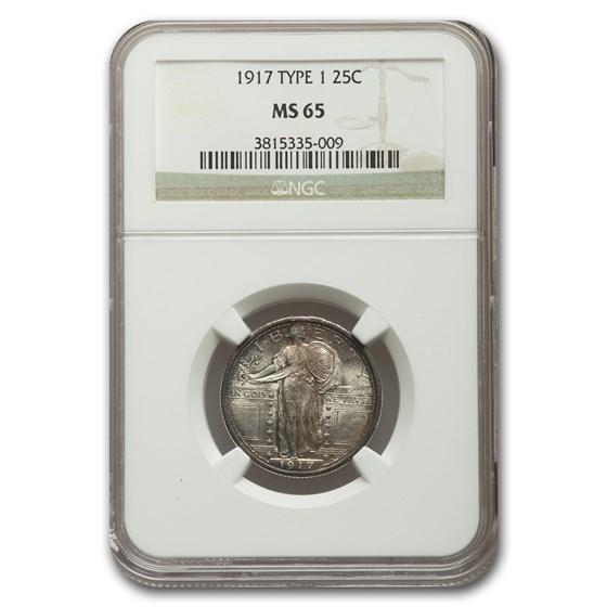 1917 Standing Liberty Quarter Type-I MS-65 NGC