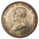 1917 Uruguay Silver One Peso MS-62 PCGS