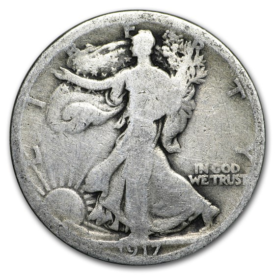1917 Walking Liberty Half Dollar AG