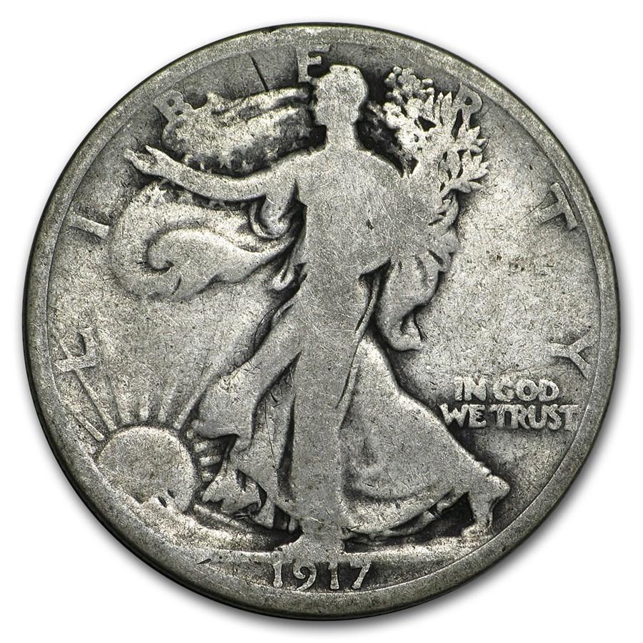 1917 Walking Liberty Half Dollar Good