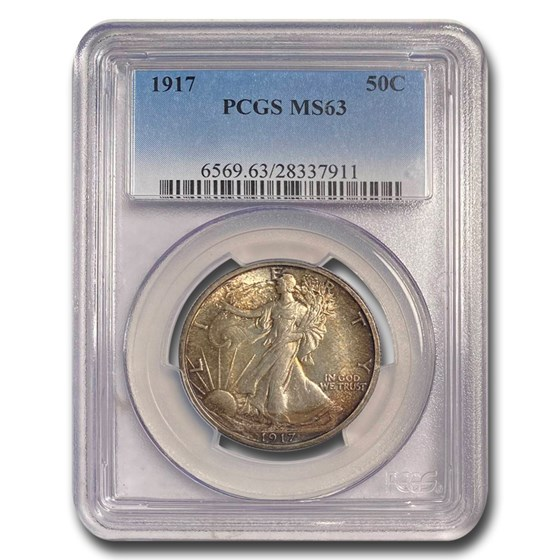 1917 Walking Liberty Half Dollar MS-63 PCGS