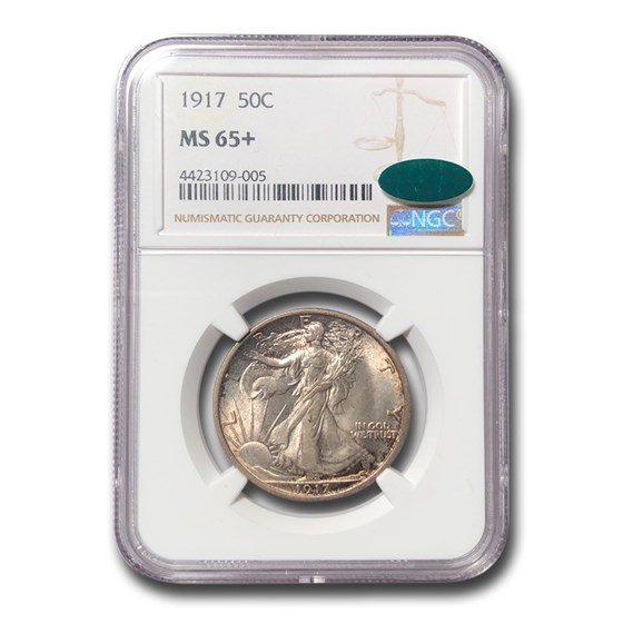 1917 Walking Liberty Half Dollar MS-65+ NGC CAC