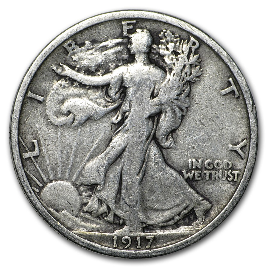 1917 Walking Liberty Half Dollar VG