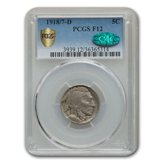 1918/7-D Buffalo Nickel Fine-12 PCGS CAC