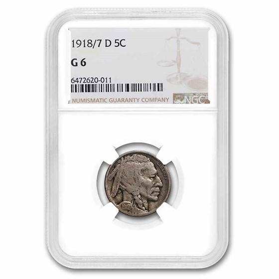 1918/7-D Buffalo Nickel Good-6 NGC