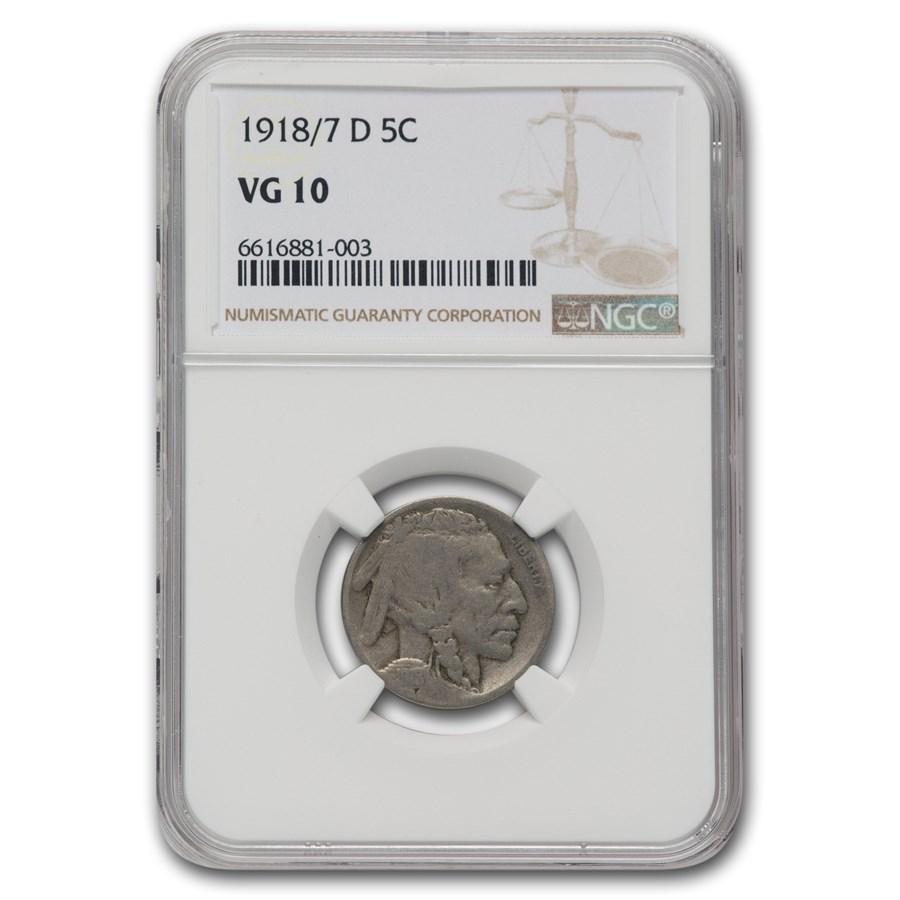 1918/7-D Buffalo Nickel VG-10 NGC
