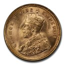 1918-B India Gold 5 Rupee George V MS-64+ PCGS