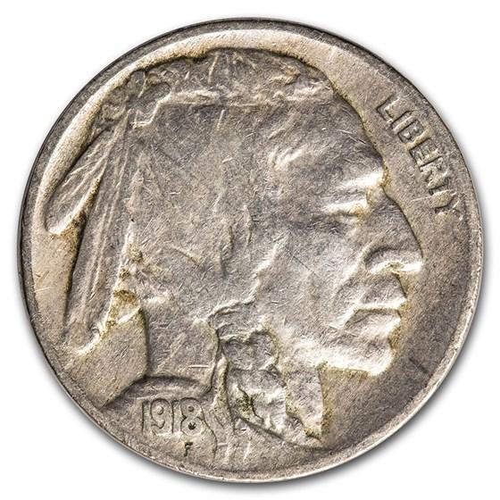 1918 Buffalo Nickel VF