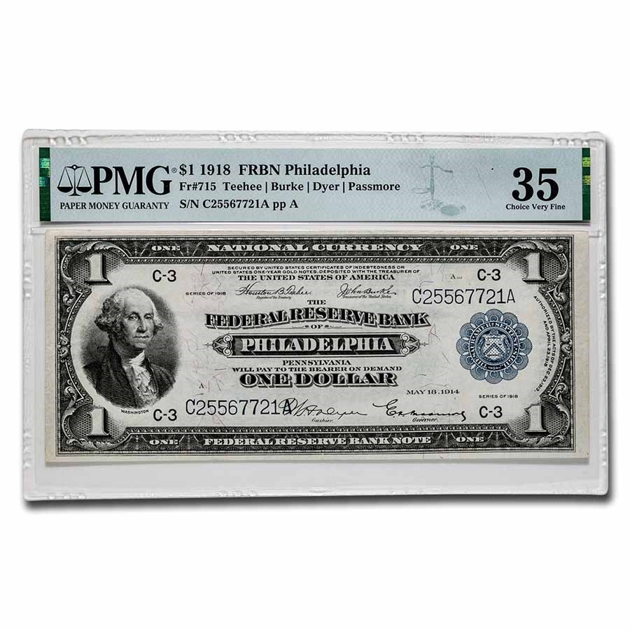 1918 (C-Philadelphia) $1.00 FRBN VF-35 PMG (Fr#715)