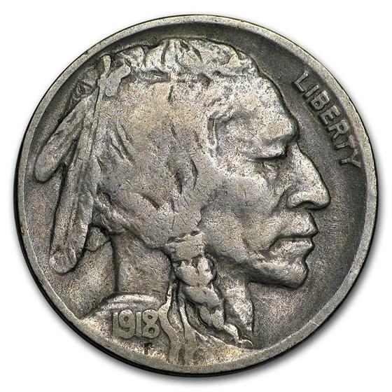 1918-D Buffalo Nickel Fine