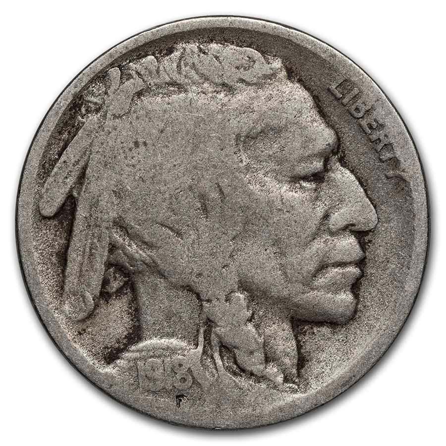 1918-D Buffalo Nickel Good