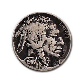 1918-D Buffalo Nickel VF Details