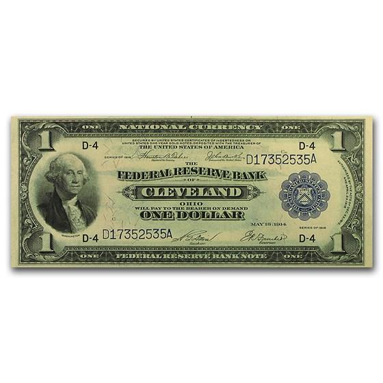 1918 (D-Cleveland) $1.00 FRBN CU (Fr#719)