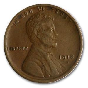 1918-D Lincoln Cent AU Details (Rev Corrosion)