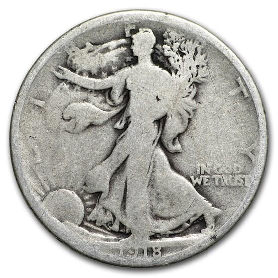 1918-D Walking Liberty Half Dollar AG