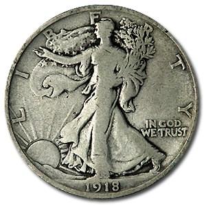 1918-D Walking Liberty Half Dollar VG