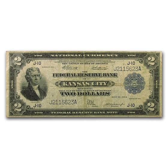 1918 (J-Kansas City) $2 FRBN Fine
