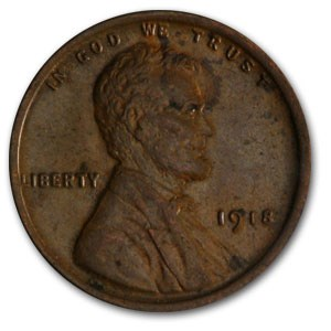 1918 Lincoln Cent AU