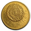 1918 Mexico Gold 20 Pesos BU